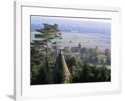 Roof of Oasthouse, Thurnham Village, Near Maidstone, North Downs, Kent, England-David Hughes-Framed Photographic Print