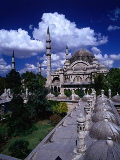 Roof of Suleymaniye Mosque, Istanbul, Turkey-Izzet Keribar-Photographic Print