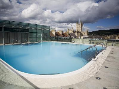 Roof Top Pool in New Royal Bath, Thermae Bath Spa, Bath, Avon, England, United Kingdom-Matthew Davison-Photographic Print