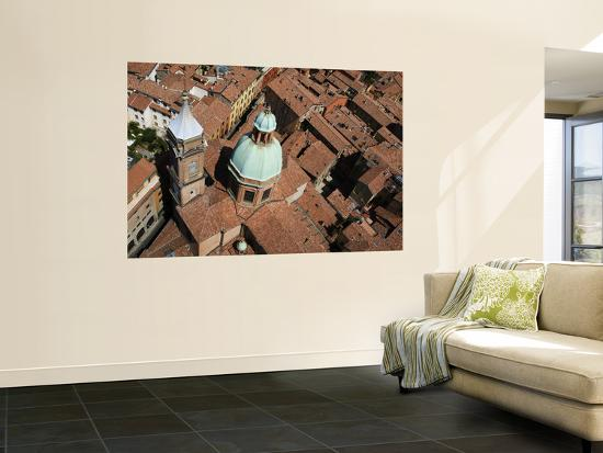 Roofs of Historic Centre (Including Chiesa Di San Bartolomeo) from Top of Asinelli Tower-Krzysztof Dydynski-Wall Mural