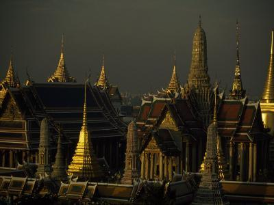 Roofs, Spires, and Steeples in the Grand Palace Complex, Bangkok-Paul Chesley-Photographic Print