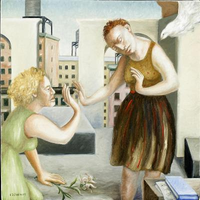 Rooftop Annunciation, 1 (Two Women) 2006-Caroline Jennings-Giclee Print