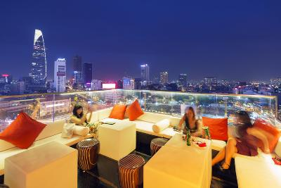 Rooftop Bar at Silverland Central Hotel and Spa, Ho Chi Minh City (Saigon), Vietnam, Indochina-Christian Kober-Photographic Print