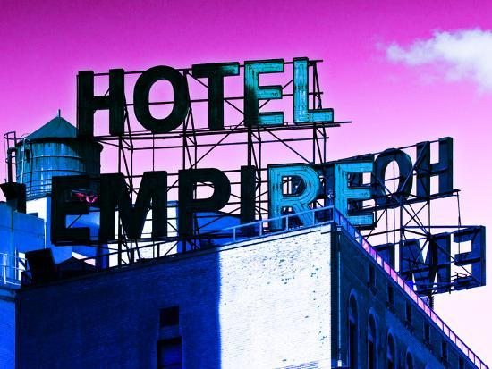 Rooftop, Hotel Empire, Footsteps of Gossip Girls in NYC, Upper West Side of Manhattan, New York-Philippe Hugonnard-Photographic Print