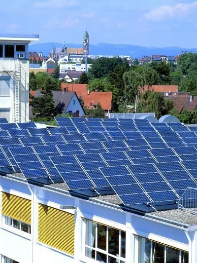 Rooftop Solar Panels, Germany-Martin Bond-Photographic Print
