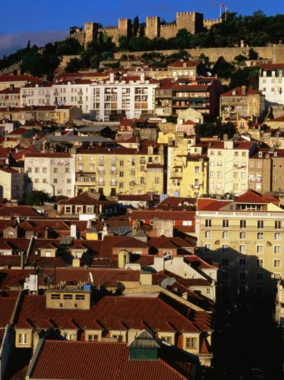 Rooftops and Buildings of City, Lisbon, Portugal-Bethune Carmichael-Photographic Print