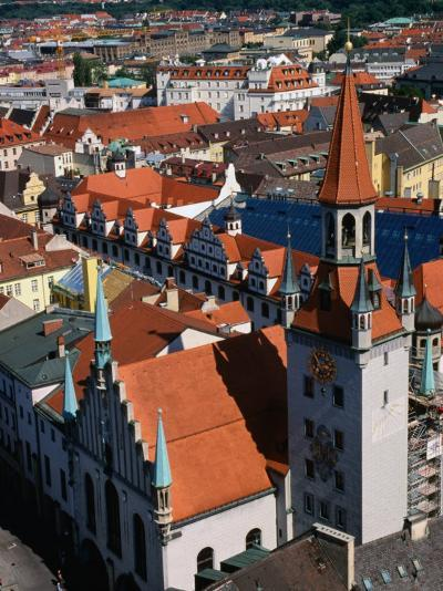 Rooftops and Old Town Hall, Munich, Germany-Wayne Walton-Photographic Print