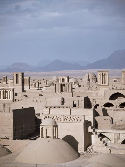Rooftops and Wind Towers, Yazd, Iran, Middle East-Richard Ashworth-Photographic Print