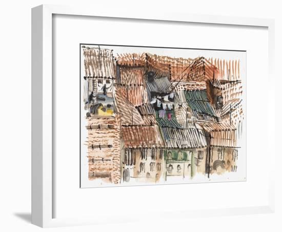 Rooftops, Bogota-Mary Kuper-Framed Giclee Print