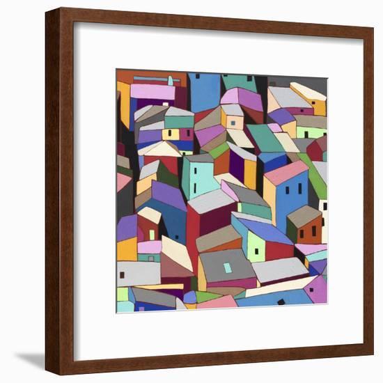 Rooftops II-Nikki Galapon-Framed Art Print