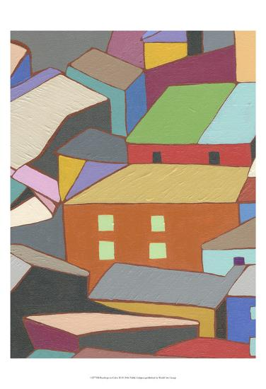 Rooftops in Color III-Nikki Galapon-Art Print