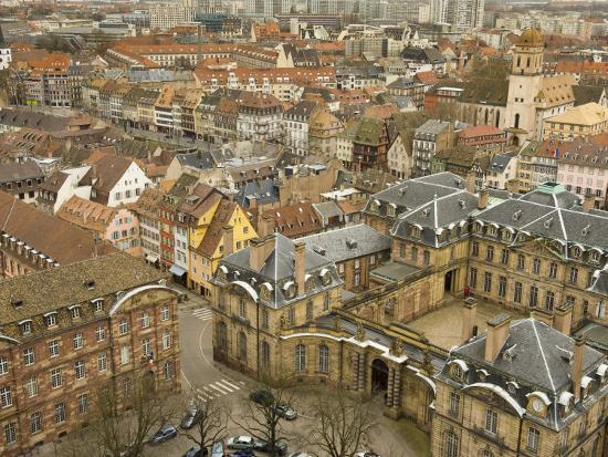 Rooftops in the Historic Section of Strasbourg-Greg Dale-Photographic Print