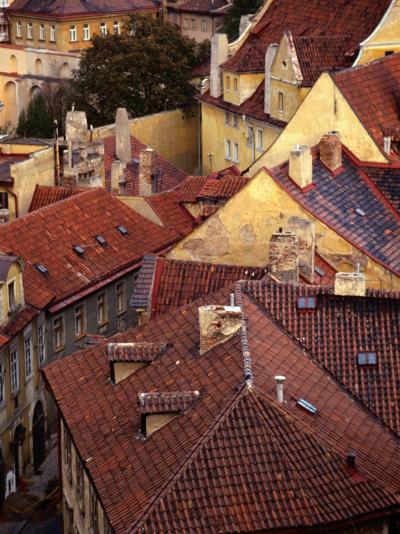 Rooftops of Houses, Prague, Czech Republic-Rick Gerharter-Photographic Print