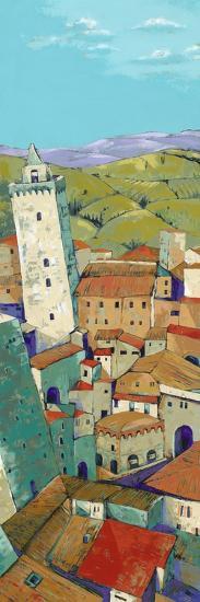 Rooftops of San Gimignano-Jane Henry Parsons-Art Print