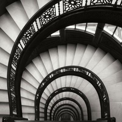 Rookery Stairwell Sq-Jim Christensen-Premium Photographic Print