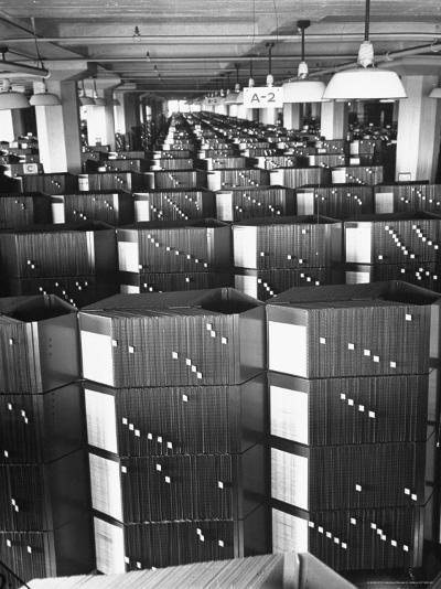 Room Containing the Visible Index Files at the Social Security Board-Thomas D^ Mcavoy-Photographic Print
