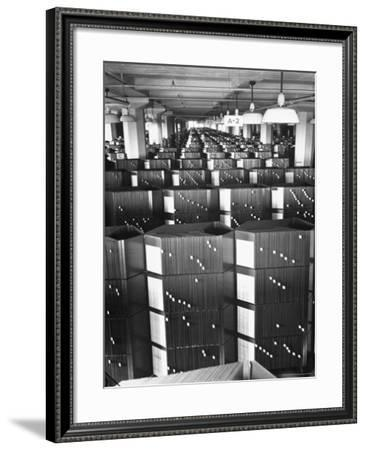 Room Containing the Visible Index Files at the Social Security Board-Thomas D. Mcavoy-Framed Photographic Print