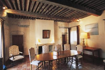 Room in Chateau of Goutelas, Marcaux, Rhone-Alpes, France--Photographic Print