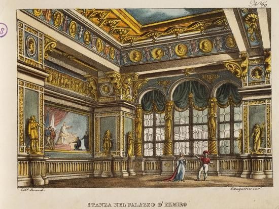 Room in the Palace of Elmiro, from 'Othello'-Alessandro Sanquirico-Giclee Print