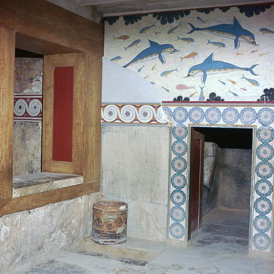 Room in the 'Queen's apartments' in Knossos, 17th century. Artist: Unknown-Unknown-Photographic Print