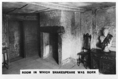 Room in Which Shakespeare Was Born, (C1920)--Giclee Print
