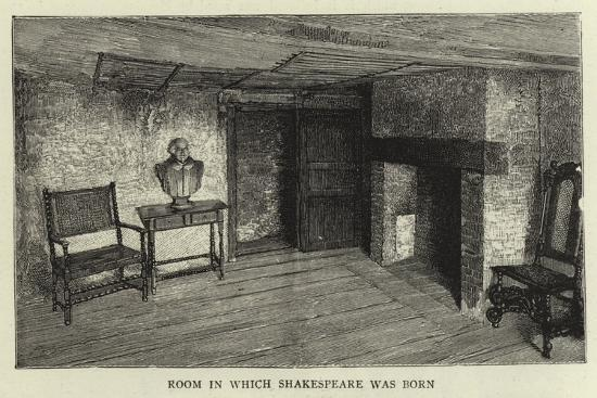 Room in Which Shakespeare Was Born--Giclee Print