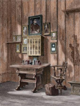 Room of Martin Luther (1483-1546) at Wartburg--Giclee Print