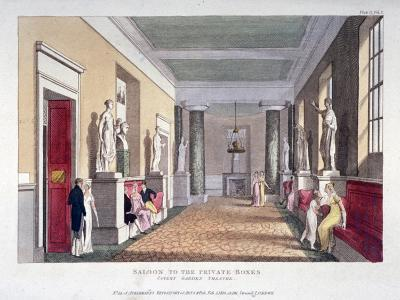 Room Off the Private Boxes, Covent Garden Theatre, Bow Street, Westminster, London, 1810--Giclee Print
