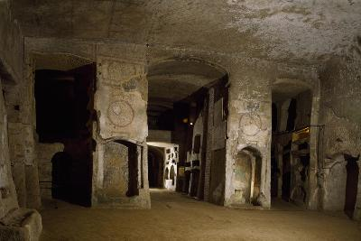 Room Opposite Lower Floor of Catacombs of San Gennaro, Naples, Campania, Italy--Giclee Print