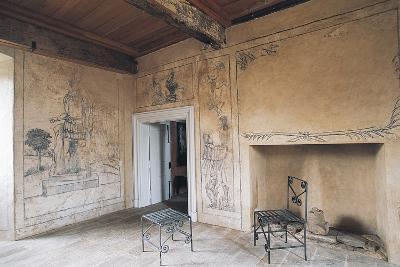 Room with Monochrome Frescoes, Chateau of Lacapelle-Marival, Midi-Pyrenees, France--Photographic Print