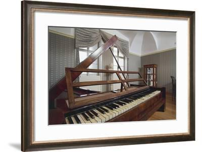 Room with Piano, Beethoven Museum, Brunswick Castle, Martonvasar, Hungary--Framed Photographic Print