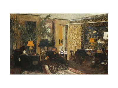 Room with Three Lamps, Rue St. Florentin-Edouard Vuillard-Giclee Print