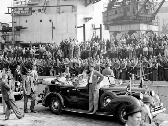 Roosevelt at the Naval Shipyards, Philadelphia, Pennsylvania--Photo