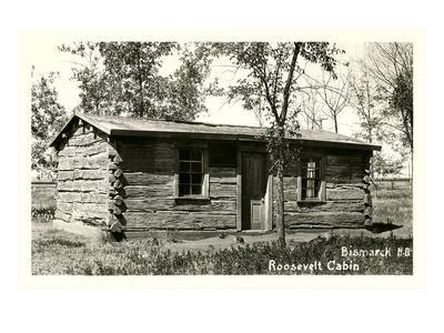 roosevelt cabin bismarck north dakota art print by. Black Bedroom Furniture Sets. Home Design Ideas