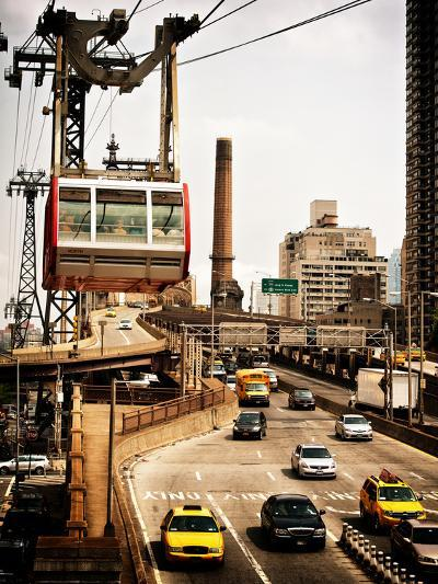 Roosevelt Island Tram and Ed Koch Queensboro Bridge (Queensbridge) Entry View, Manhattan, New York-Philippe Hugonnard-Photographic Print