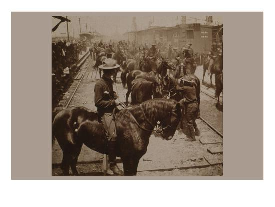 """Roosevelt's """"Rough Rider's"""" Arrival at Tampa, Fla., U.S.A.--Art Print"""