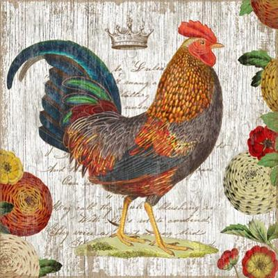 Rooster Blue Wood Sign