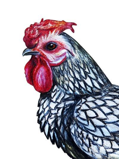 Rooster Decorative Portrait Drawing- viktoriya_art-Art Print