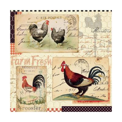 Rooster Farm II-Pela Design-Art Print
