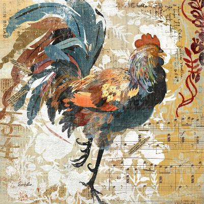 Rooster Flair I-Evelia Designs-Art Print