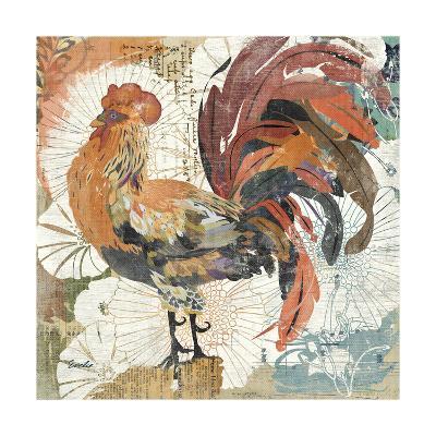 Rooster Flair II-Evelia Designs-Art Print