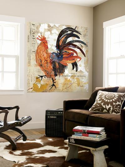 Rooster Flair III-Evelia Designs-Wall Mural