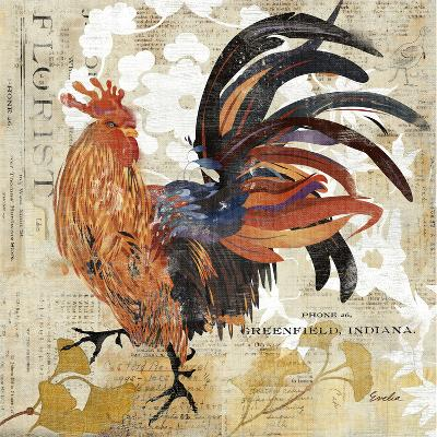 Rooster Flair III-Evelia Designs-Art Print