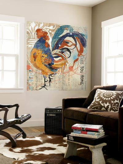 Rooster Flair IV-Evelia Designs-Wall Mural