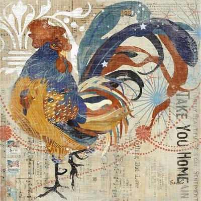Rooster Flair IV-Evelia Designs-Art Print