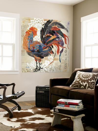Rooster Flair V-Evelia Designs-Wall Mural