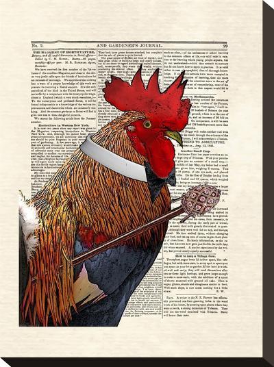 Rooster Gentleman-Matt Dinniman-Stretched Canvas Print