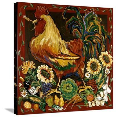 Rooster Harvest-Suzanne Etienne-Stretched Canvas Print