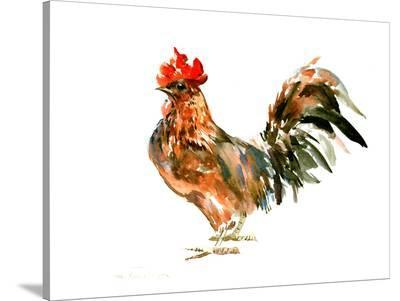 Rooster Kitchen 1-Suren Nersisyan-Stretched Canvas Print