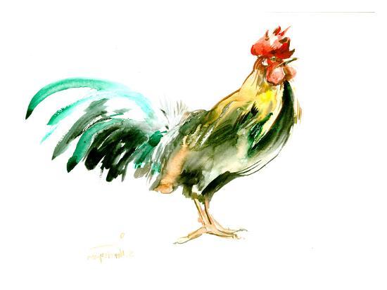 Rooster Kitchen 4-Suren Nersisyan-Art Print